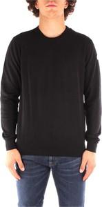 Czarny sweter North Sails z okrągłym dekoltem w stylu casual z wełny
