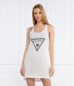 Sukienka Guess w stylu casual z okrągłym dekoltem na ramiączkach