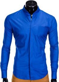 Niebieska koszula ombre clothing z bawełny z nadrukiem