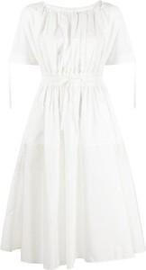 Sukienka Moncler mini z okrągłym dekoltem