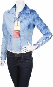Niebieska bluzka Guess z długim rękawem