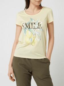 T-shirt Montego z krótkim rękawem z okrągłym dekoltem w młodzieżowym stylu