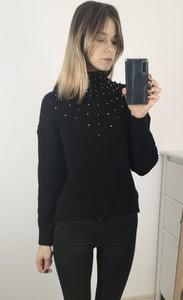 Granatowy sweter Nefresca