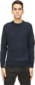Niebieski sweter C.P. Company z bawełny