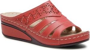 Czerwone klapki Clara Barson w stylu casual