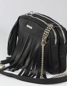 Czarna torebka Fabiola ze skóry