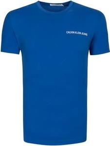 T-shirt Calvin Klein z dżerseju w stylu casual