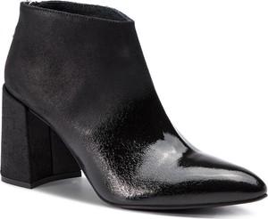 Czarne botki Simple na zamek z nubuku w stylu glamour