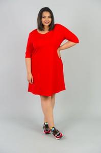 Sukienka KARKO z długim rękawem w sportowym stylu midi
