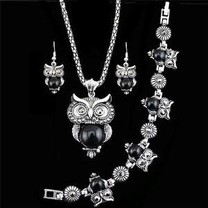 IZMAEL.eu Set Antique Owl - Czarny