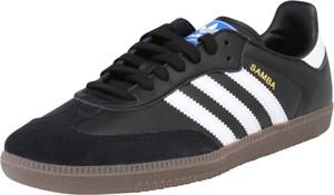 Czarne trampki Adidas Originals ze skóry z płaską podeszwą