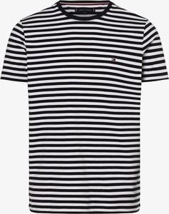 Niebieski t-shirt Tommy Hilfiger z bawełny w stylu casual