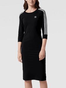 Sukienka Adidas Originals dopasowana z dżerseju midi
