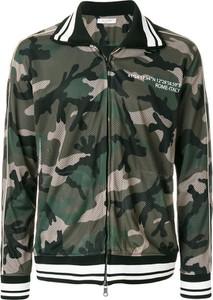 Zielona kurtka Valentino w militarnym stylu