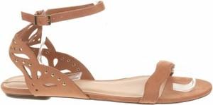 Brązowe sandały Aldo z klamrami w stylu casual
