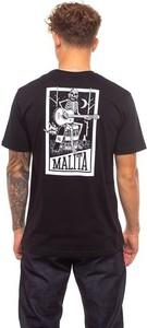 Czarny t-shirt Malita z krótkim rękawem