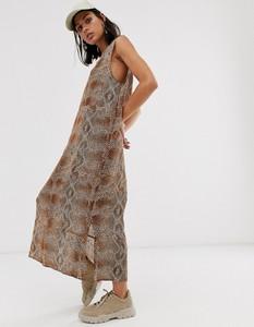 Brązowa sukienka Hosbjerg ze skóry