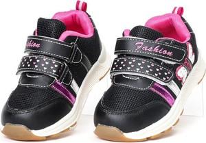 Czarne buty sportowe dziecięce Royalfashion.pl na rzepy