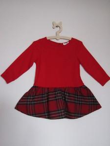 Czerwona sukienka dziewczęca Lemika z bawełny