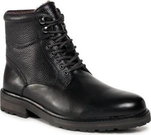 Czarne buty zimowe Digel sznurowane w stylu casual