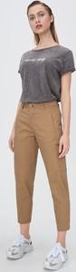 Brązowe spodnie Sinsay w militarnym stylu