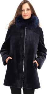 Granatowy płaszcz Rino & Pelle z tkaniny w stylu casual
