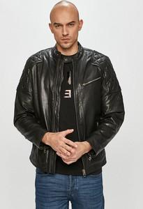 Czarna kurtka Pepe Jeans ze skóry krótka