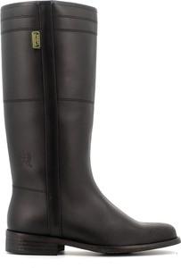 Czarne kozaki Dakota Boots na zamek ze skóry