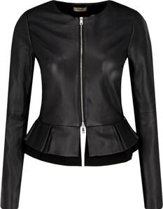 Czarna kurtka Liu-Jo w rockowym stylu ze skóry