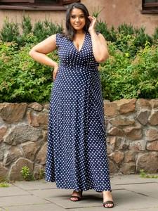 Sukienka KARKO bez rękawów z tkaniny