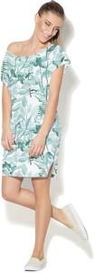 Sukienka COLOUR PLEASURE z dzianiny w stylu casual z krótkim rękawem