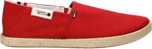 Czerwone buty letnie męskie Tommy Hilfiger