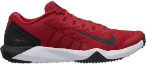Czerwone buty sportowe Nike sznurowane w sportowym stylu