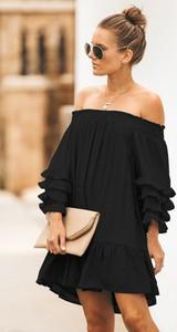 Czarna sukienka Ivet.pl asymetryczna