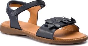 Niebieskie sandały Froddo z płaską podeszwą w stylu casual