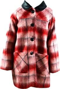 Różowy płaszcz dziecięcy Liu-Jo w krateczkę z bawełny