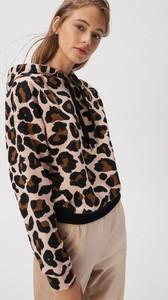 Brązowa bluza Sinsay w młodzieżowym stylu krótka
