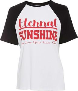 T-shirt bonprix z okrągłym dekoltem z krótkim rękawem w młodzieżowym stylu