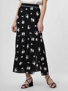 Czarna spódnica Armani Exchange z nadrukiem maxi w stylu boho
