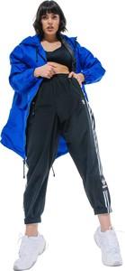 Niebieska kurtka REST FACTORY w stylu casual z tkaniny