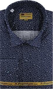 Granatowa koszula Redpolo z długim rękawem z tkaniny