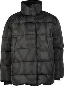 Czarna kurtka Superdry w stylu casual krótka z bawełny