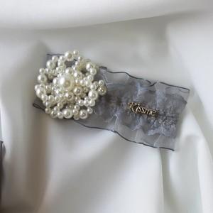 Vezzi Spinka imitacja pereł,kolor niebieski O1V90009-3