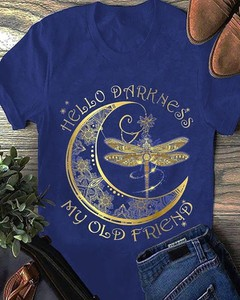 Niebieski t-shirt Kendallme z bawełny z okrągłym dekoltem