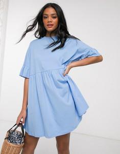 Niebieska sukienka Asos Design mini z tkaniny