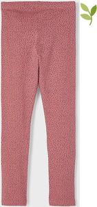 Różowe spodnie dziecięce Name it w groszki
