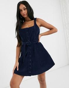 Niebieska sukienka Asos Design