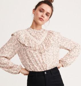 Różowa bluzka Reserved w stylu boho