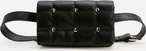 Czarna torebka Reserved na ramię ze skóry