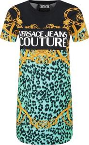 Sukienka Versace Jeans prosta z krótkim rękawem